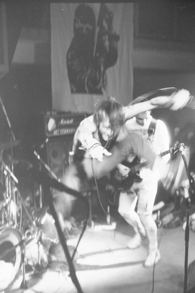 Heresy live in 1987